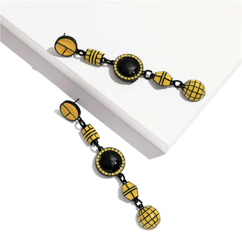 ZA Pendientes Drop Earrings Women Punk Round Earring Female 2019 Big Bohemian Best Lady Satement Vintage Beaded Earrings Jewelry