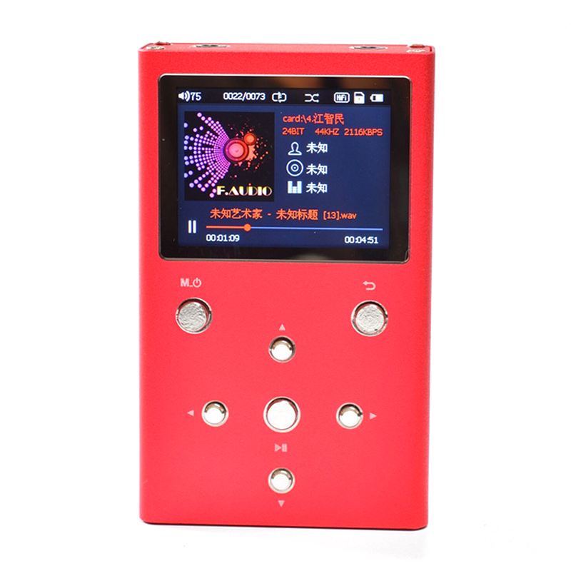 F. XS02 HiFi de áudio PCM Lossless Music Player Com Dual AK4490EQ + TPA6120A2 & DSD Áudio Digital Jogador DAP MP3 Jogador com 32 GB