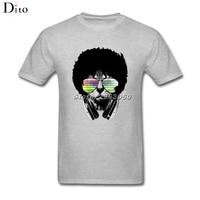 Afro African Cat T Shirt Men S Tailored Short Sleeve Fashion Custom 3XL Group Tee Shirts