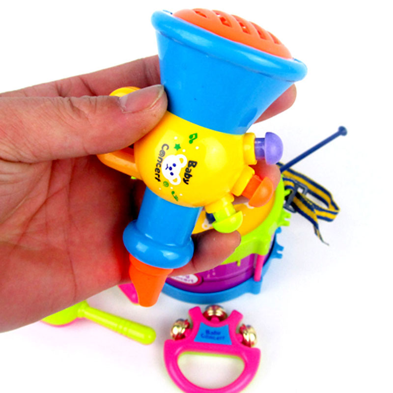 5PcsSet-Mini-Musical-Instruments-Band-Roll-Drum-Horn-Music-Toy-Set-Baby-Grasp-Hand-Bell-Drum-Fun-Early-Educational-Music-Toy-5