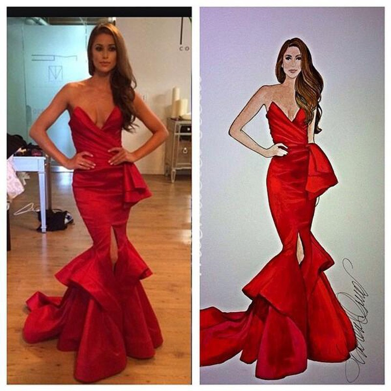 3a3c144072 US $99.0 |New Style Cheap Mermaid Evening Dress Formal Prom Dress 2019 Red  Sexy Ruffles Backless Vintage Pageant Evening Gowns Custom Made-in Prom ...