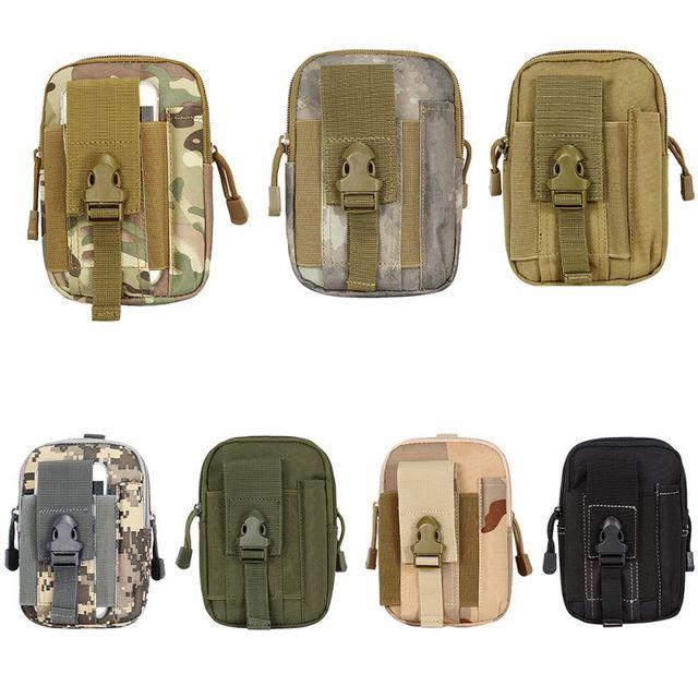 Us 4 06 24 Off Sports Bag Women Men Universal Outdoor Tactical Canvas Waist Pack Belt Purse Travel Sets Mobile Wallet Cigarettes In