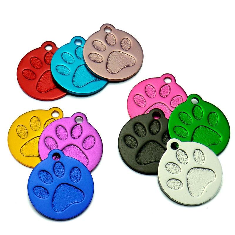 20pcs Black Bone Shape Custom Pet Dog Tags Disc Phone Name Engraved Collar Tag