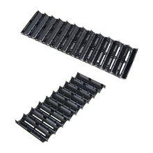 OOTDTY 10 adet 2x1 0P/2x13P cep plastik 18650 pil Spacer tutucu silindirik hücre braketi pil depolama aksesuarları