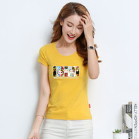 2018 T Shirt Women New t shirts women vogue Vintage tshirts cotton women O Neck Short Sleeve JR01