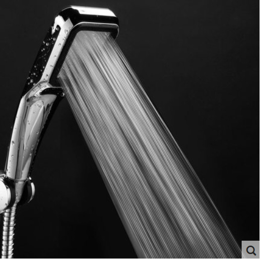 300 lubang Pressure Water Saving Shower Head ABS Dengan Chrome Plated Bathroom Hand Shower Water Booster Showerhead
