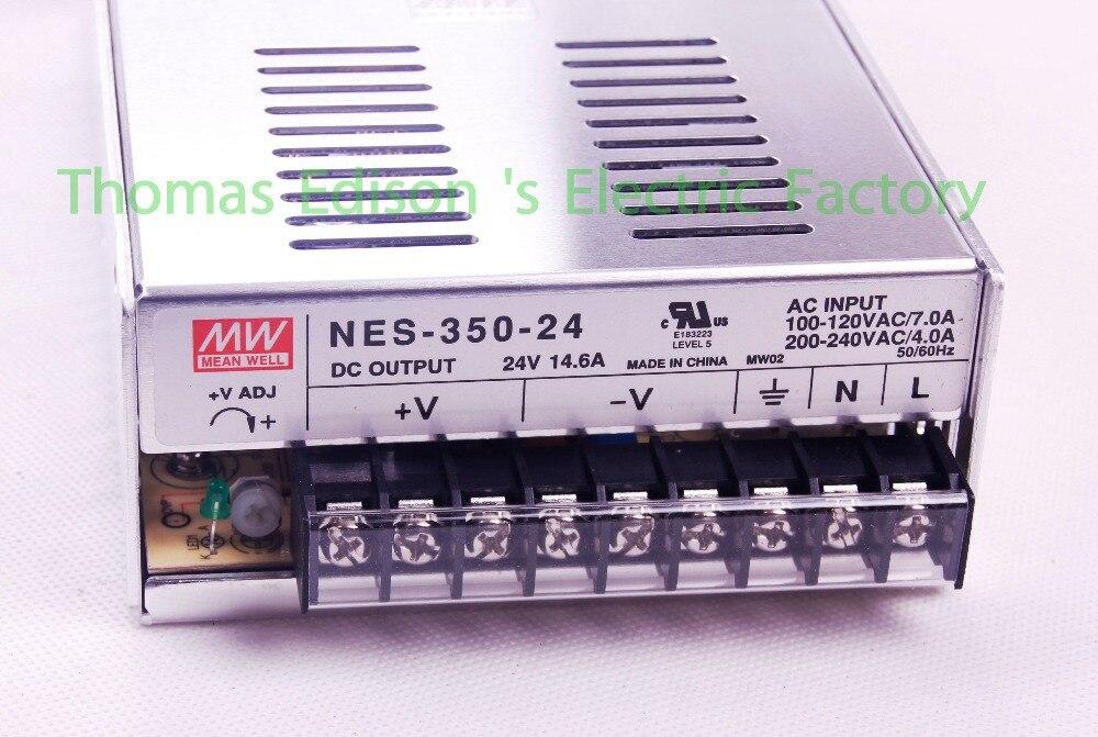 mean well power suply 24v 350w 14.6a AC to DC power supply NES-350-24 ac dc converter  Original high quality NES original meanwell nes 350 48 ac to dc single output 350w 7 3a 48v mean well power supply nes 350
