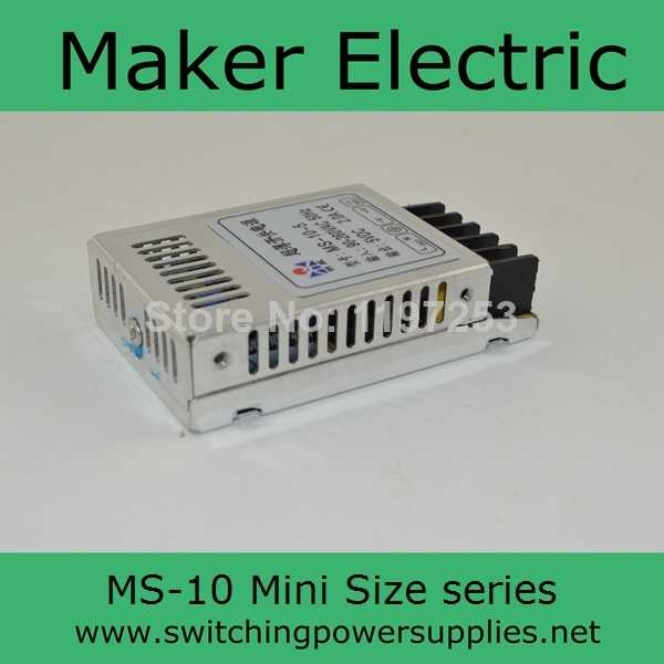 Üretim satış mini boy anahtarlama güç kaynağı ünitesi MS-10-12 10 w 12 v 0.83A