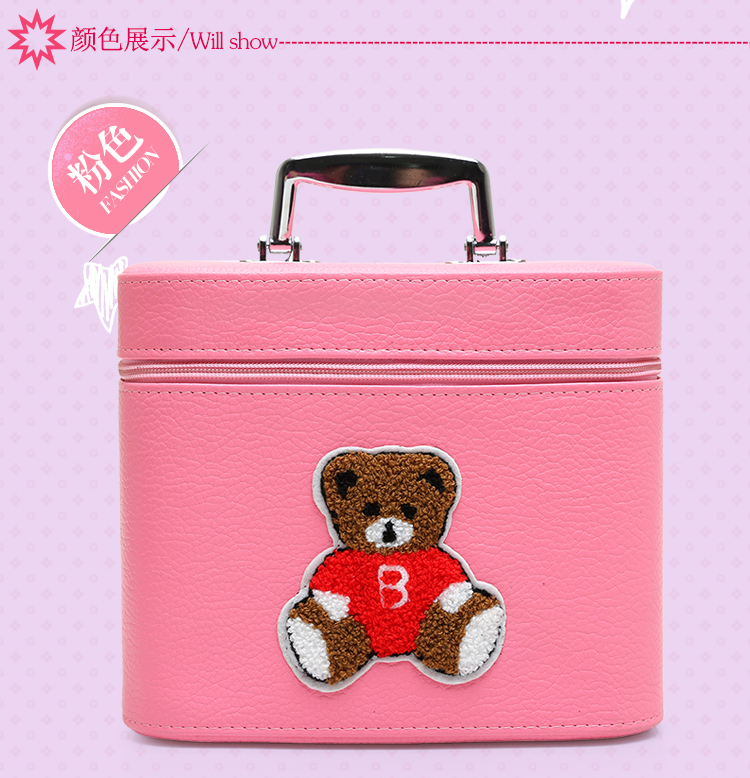 f570a3aaac New Big Size Women Make Up Bags Cartoon Bear PU Zipper Cosmetic Case Simple  Casual Girl Lady Pouch Storage Travel Organizer-in Cosmetic Bags   Cases ...