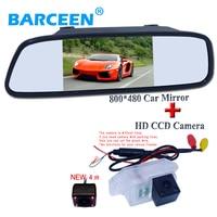 Wire car reversing monitor bring 5 lcd display +4 ir lamp auto car parking camera colorful night vision for Mitsubishi Lancer