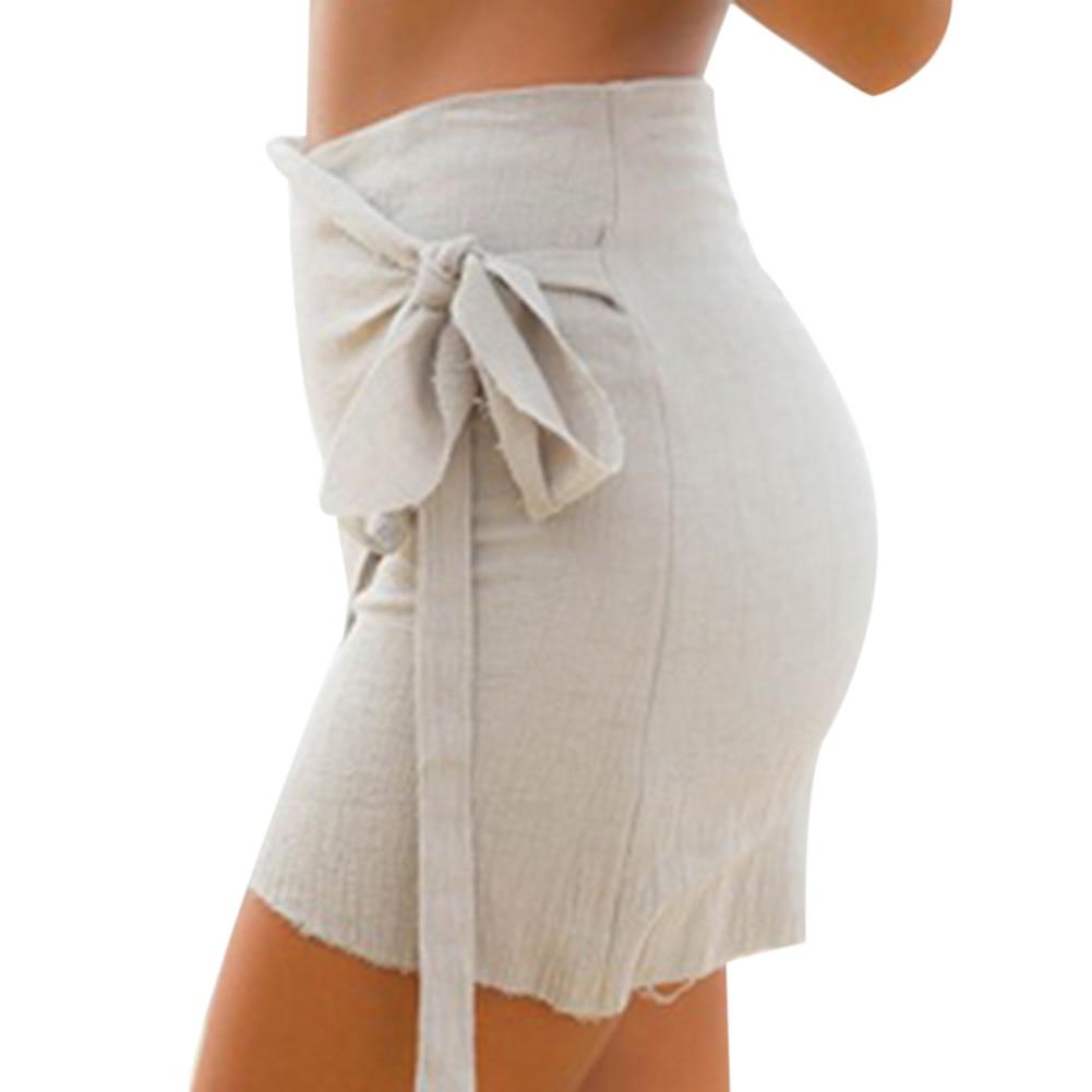 HTB1NALFRFXXXXaXapXXq6xXFXXXB - 2017 Fashion Women's Ladies Skirt Summer Beach Strap Irregular Casual Sundress Hip Skirt PTC 281