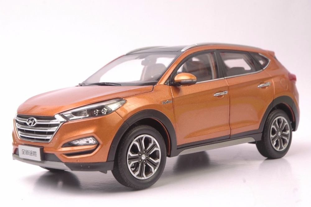 1:18 Diecast Model for Hyundai Tucson 2016 Orange SUV Alloy Toy Car Miniature Collection Gifts IX набор стаканов luminarc аскот 300 мл 6 шт