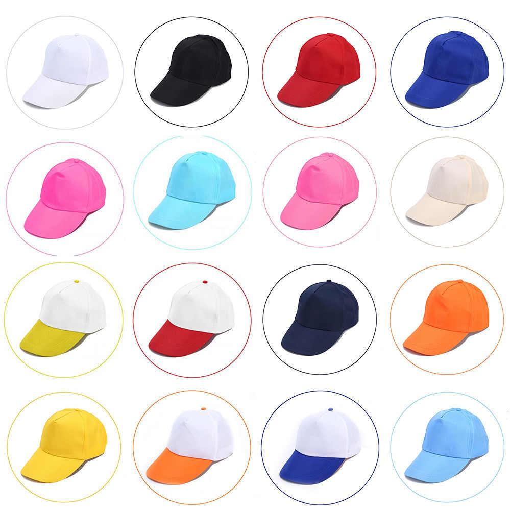 1 قطعة عادية بلون الهيب هوب شقة الطنف القبعات للجنسين قابل للتعديل قبعة الصيف موضة في الهواء الطلق كبيرة حافة قبعة بيسبول Hot البيع
