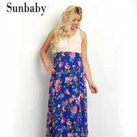 2017 Summer Fashion Maternity Floral Countryside Style Pregnancy Dress Photography Clothes For Pregnant Women