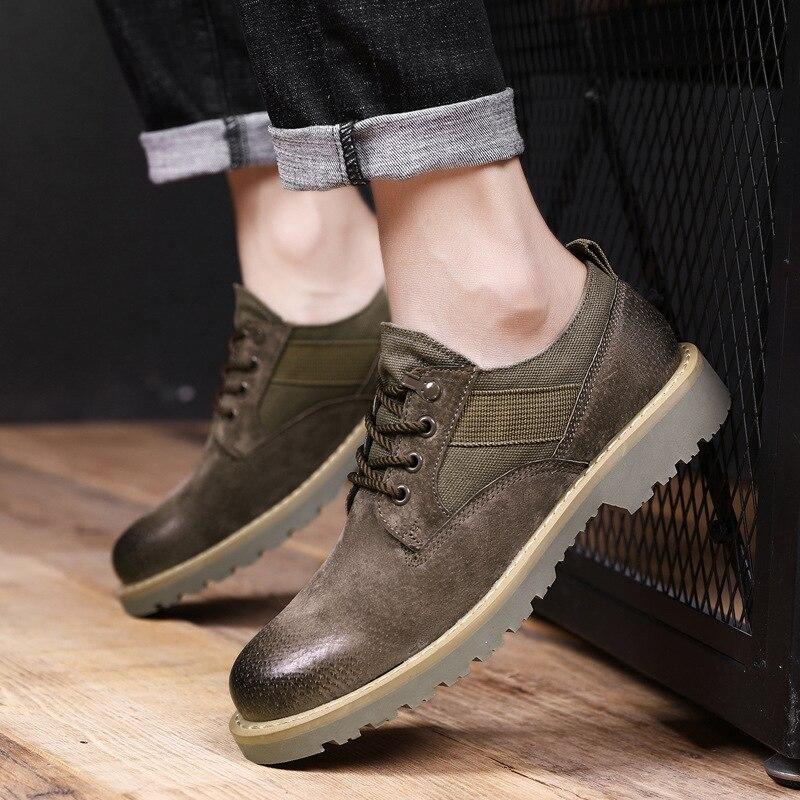 Bas Hommes bleu Haute Top De Et Chaussures Type D'hiver Cuir Beige Shoesnew Automne Porc En Low Vache noir XUOxTX6