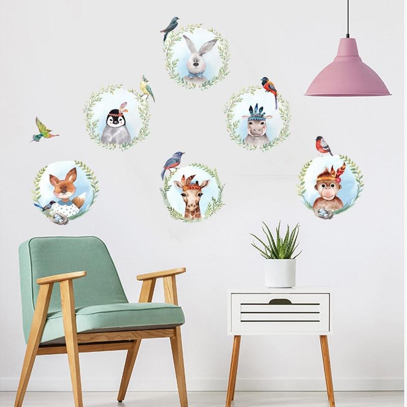 Aliexpress.com : Buy Cartoon Animal Flower Birds Wall