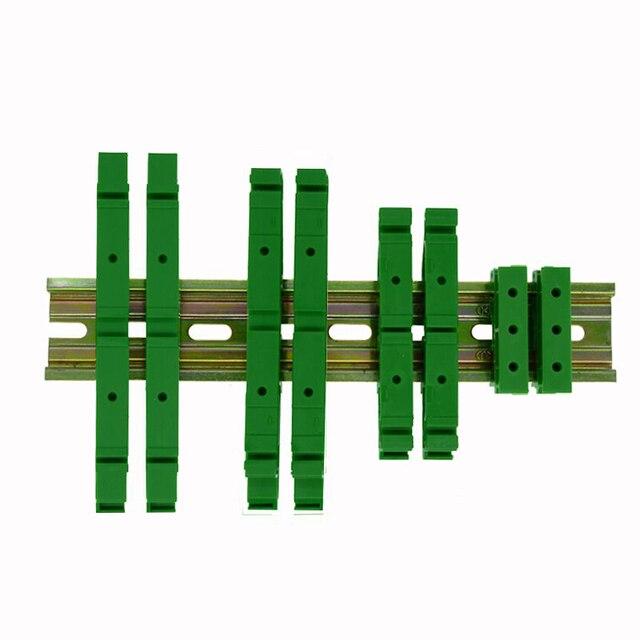 """1 יחידות DRG-04 המעגלים PCB הרכבה סוגר להרכבה מסילת DIN הרכבה 2x מתאם + ברגי 4x, המגרש חור הוא 46.5 מ""""מ"""