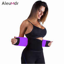 Aleumdr Adjustable Belly Trainer Waist Support Fitness Belt Sport Purple Pink Black Blue Waistband Power Tummy Slim Belts 50011