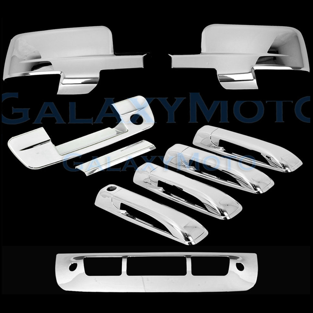 2009 12 for dodge ram abs chrome mirror cover with turn signal light 4 door handle tailgate kh 3rd brake tail light cover
