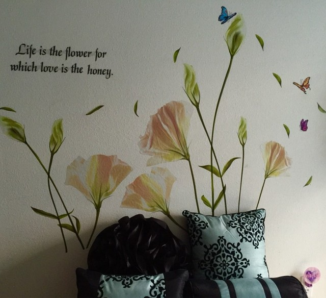 """Lily Flowers Quote """"Life is the flower for which love is the honey"""""""