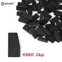 KEYYOU 10x 20x For Ford 4D60 ID60 For Ford Fiesta Connect Focus Mondeo Ka 40 Bits Blank Carbon Chip Car Carbon Transponder Chip