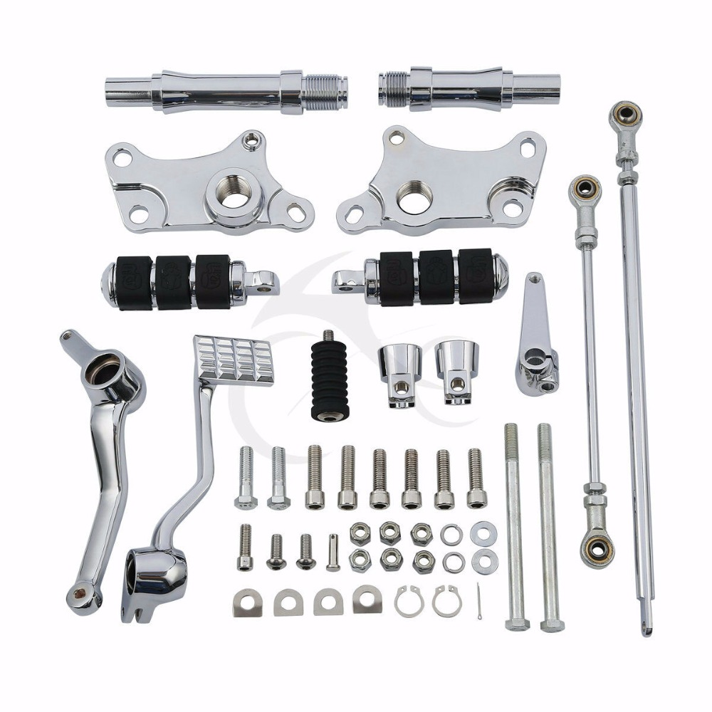Motorcycle Forward Controls Kit Pegs Levers Linkage For Harley Sportster XL 883 1991-2003