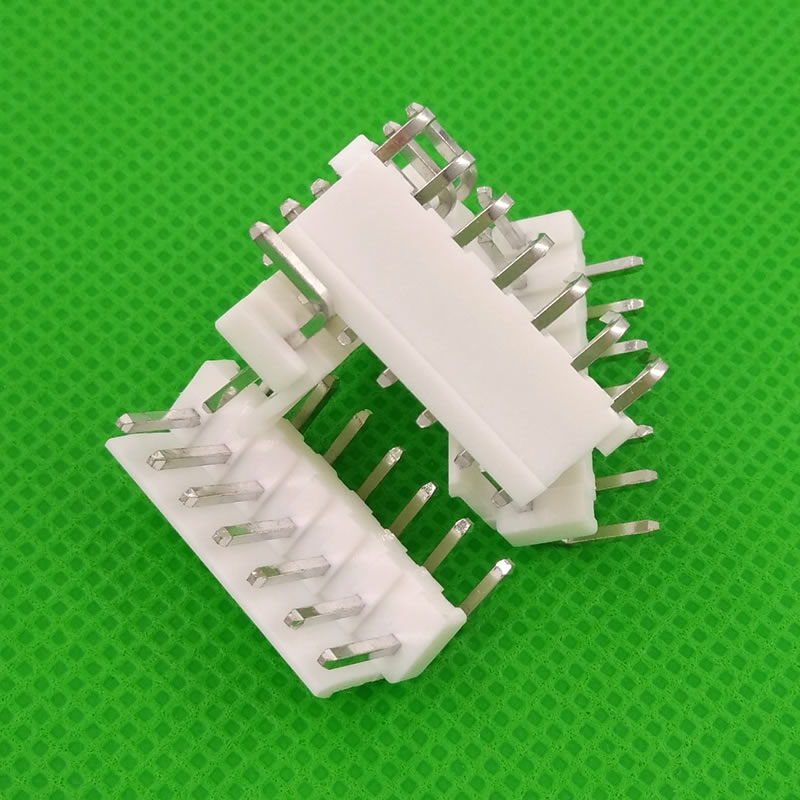 Free shipping 500pcs male right angle material VH3 96 7pin 7pins Connector Leads pin Header 3