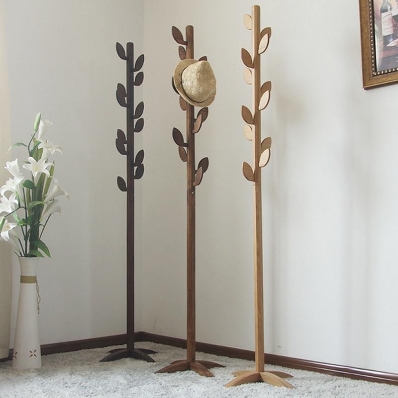 nueva moda roble estante muebles de sala madera tree hanger dormitorio perchas perchero