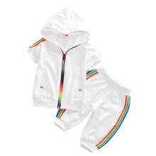 Fashion Kids Boy Girl Clothes Sportswear Summer Baby Colorfu