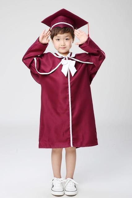 Ребенок академический платье для Обувь для мальчиков Dr. ткань окончил бакалавра Dr. кепки девушка степень магистра платье Выпускной Костюмы и одежда 18