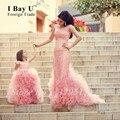 Vestidos de Noite árabe Vestidos Pink Cloud Train Vestidos de Manga Comprida Mermaid Vestidos Kaftan Marroquino Cerimonial Vestido de Noite Vestidos