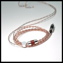 UP-OCC COPPER  lizt structure 4Core Upgraded Copper Cable 3.5/2.5/4.4mm Earphone MMCX 2PIN