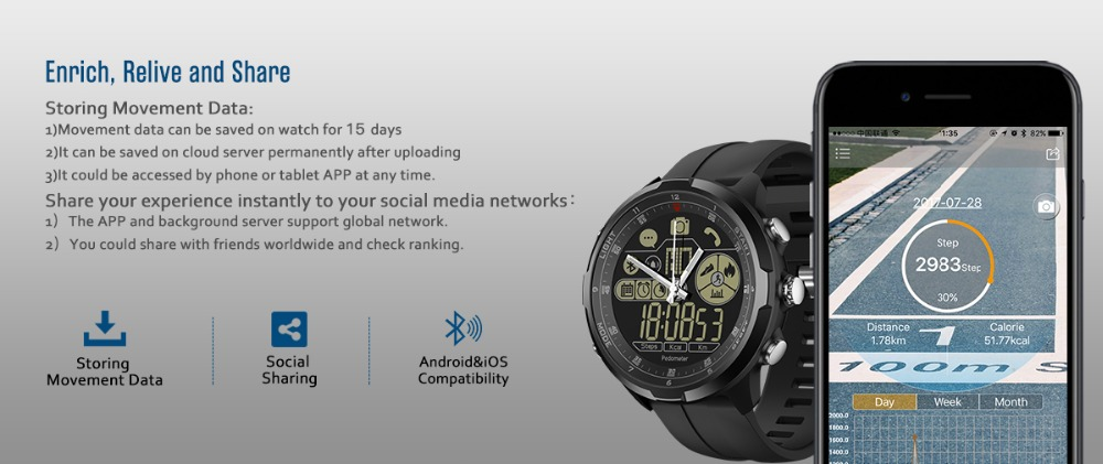 New Zeblaze VIBE 4 Hybrid Flagship Rugged Smartwatch 50M Waterproof 33-month Standby Time 24h All-Weather Monitoring Smart Watch 15
