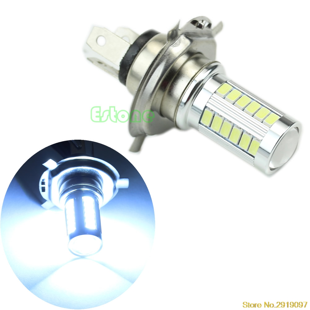 new 12v super bright h4 33 led smd white car fog light headlight driving lamp bulb drop shipping