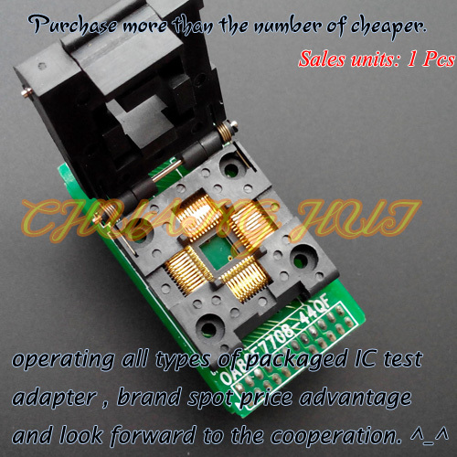 OA80F7708-44QF Programmer Adapter for ABOV Programmer Adapter TQFP44-DIP Adapter/Test Socket