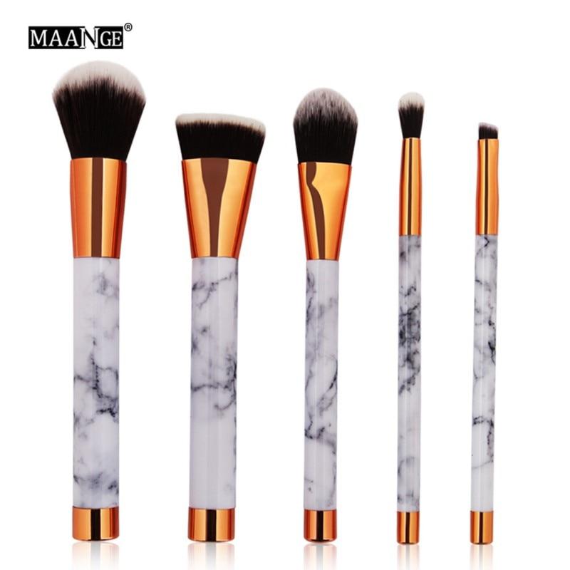 MAANGE набор кистей для макияжа Мрамор текстура Foundatin порошок тени для век мраморность плоским косой голову косметические кисти комплект L8