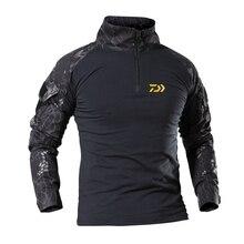 Daiwa одежда для рыбалки летняя Солнцезащитная рыболовная футболка армейская дышащая антимоскитная уличная походная туристическая рыболовная рубашка