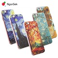 Pintura 3d celular case para iphone 7 plus case para iphone se 4 4S 5 5S 6 6 s plus case van gogh noite estrelada phone case fone