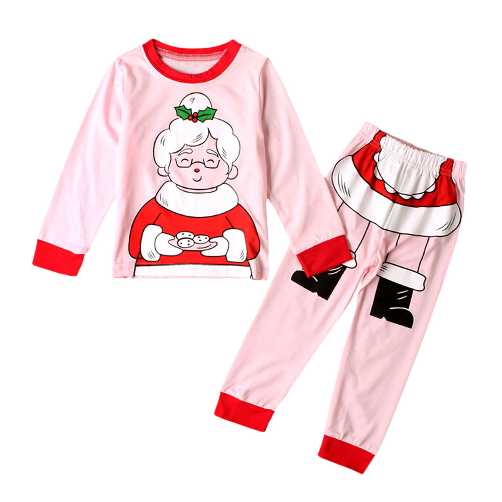 MUQGEW baby kleding Kids Toddler Baby Girls Christmas Grandma Tops Shirt Pants Outfits Set Clothes baby girl clothes baby clothe toddler kid baby girl clothes set 3 pcs infant off shoulder blouse tops denim hole pants jeans headband outfits clothes