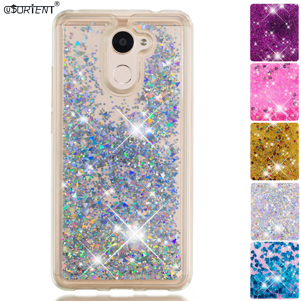 Half-wrapped Case Responsible Bling Case For Huawei Y7 2017 Y7 Prime Glitter Dynamic Liquid Quicksand Fitted Phone Cover Trt-l21 Trt-l01 Trt-lx1 Back Funda Quell Summer Thirst Phone Bags & Cases