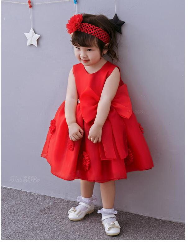 Baby Girls Pageant Formal Dresses 2017 Christmas Bow Satin Infant Girls Princess tutu Dress Toddler Kids Birthday Party Dress christmas dress toddler kids baby girls clothes dress princess prom dress xmas striped party pageant tutu dresses
