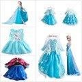 2016 nova moda Anna Elsa meninas Vestidos crianças vestido de crianças Vestidos de festa de Cosplay vestido Pincess Vestidos