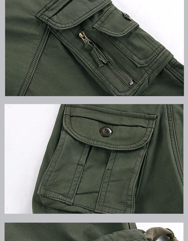 macacões grossos da carga multi bolsos calças