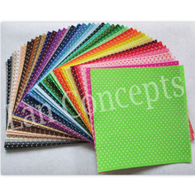 30X30cm Non-woven Sheet with Polka Dots Polyester Felt Fabric Sheets for DIY gift crafts - 44pcs/lot mixed color free shipping
