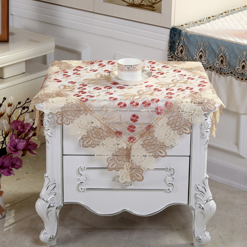 Home & Garden Tablecloths Proud Rose Lace Round Table Cloth Embroidered Table Cover Sofa Towel Decoration Tablecloth Tv Ark Cover Towel Customed