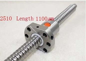 Diameter 25 mm Ballscrew SFU2510 Pitch 10 mm Length 1100 mm with Ball nut CNC 3D Printer Parts diameter 25mm ball screw sfu2510 length 600mm plus rm2510 2510 ball nut cnc diy carving machine 1pcs