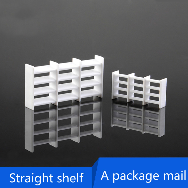 Sand Table Model, Material Section, Mini Furniture, ABS Furniture, Supermarket Container, Trapezoidal Shelf,1:50,Straight Shelf