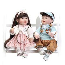 NPK 22inch silicone reborn baby dolls lifelike soft silicone boy and girl reborn babies as Christmas gifts free shipping