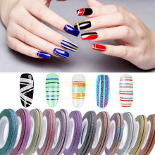 Sale 3PCS/Set Nail Striping Tape Art Glitter 1mm 2mm 3mm DIY Makeup Decorations Scrub Stickers