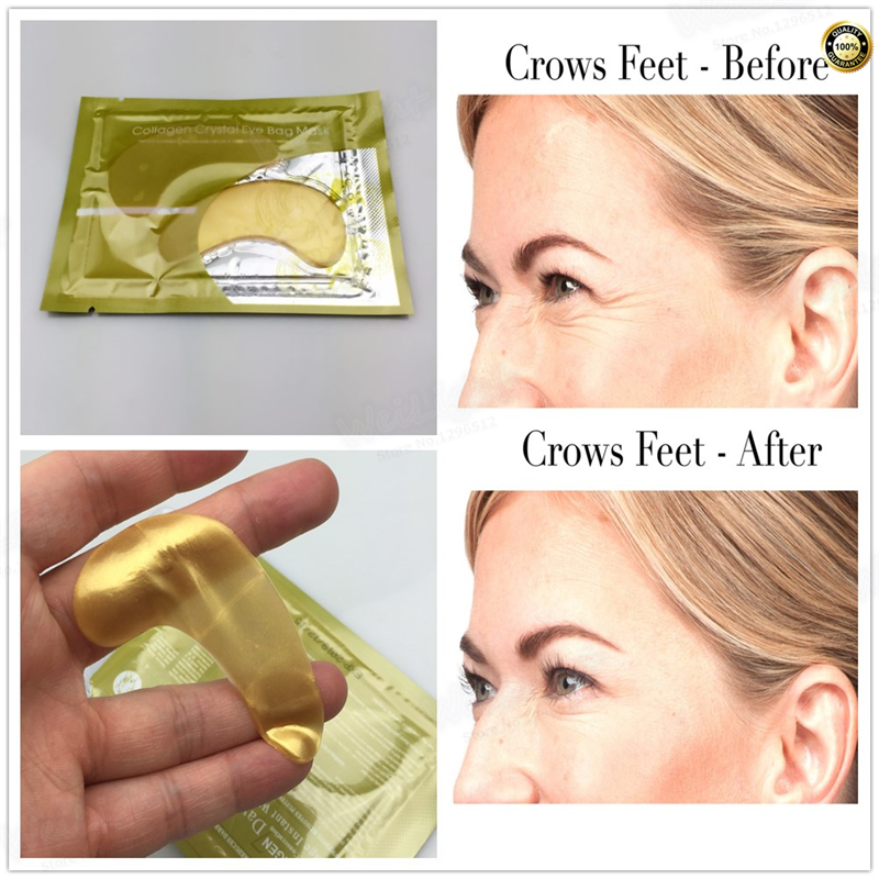 100% snail extract eye mask Patches mask 2 pcs Wrinkle Care fine lines remover moisturizing